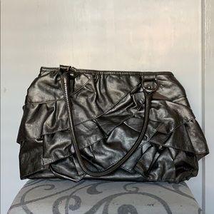 New York & Company Ruffle Shoulder Bag
